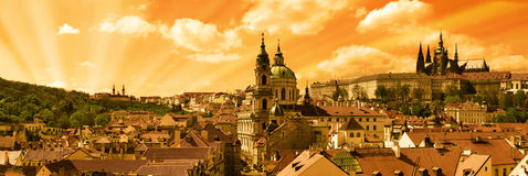 Peu de ville de Prague Photo stock