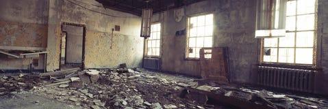 Panorama de pièce abandonnée Photographie stock