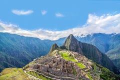 Panorama de picchu de Machu Image stock