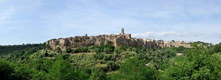 Panorama de Pitignano fotografía de archivo libre de regalías