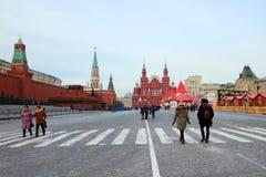 Panorama de place rouge Photo libre de droits