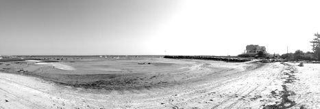 Panorama de plage Photographie stock