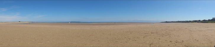 Panorama de plage Photos stock