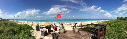Panorama de plage Images libres de droits