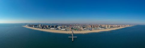 Panorama de plage de Coney Island - New York City photo libre de droits