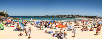 Panorama de plage de Bondi Photos stock