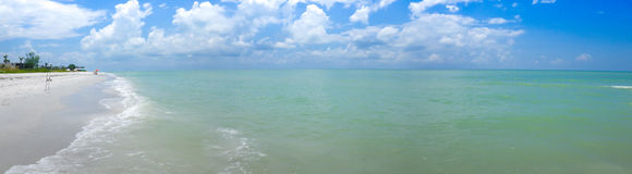 Panorama de plage de Sanibel Photos stock