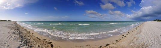 Panorama de plage de Varadero, Cuba Images stock