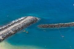 Panorama de plage Las Teresitas, Ténérife, Îles Canaries, Espagne Images libres de droits