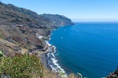 Panorama de plage Las Teresitas, Ténérife, Îles Canaries, Espagne Photographie stock