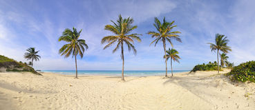 Panorama de plage Santa Maria, Cuba photos stock