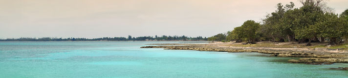 panorama de plage tropical Photographie stock