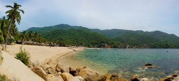 Panorama de plage de Yelapa au Mexique Photo libre de droits