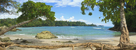 Panorama de Playa Manuel Antonio Photographie stock