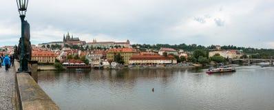 Panorama de pont de Charles Images stock