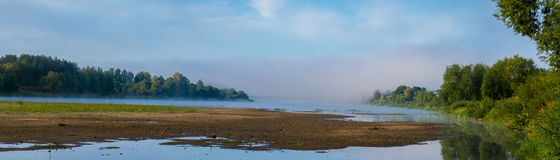Panorama de pont de Prienai Image libre de droits