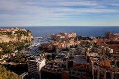 Panorama de Port de Fontveille Monte Carlo Images libres de droits