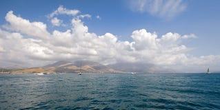 Panorama de port de Gaeta Photographie stock libre de droits