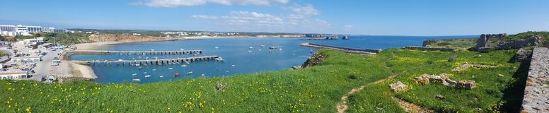 Panorama de port de sagres Photos libres de droits