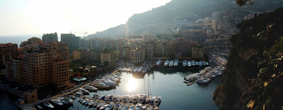 Panorama de port du Monaco Photographie stock