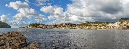 Panorama de Porto de Soller Fotografia de Stock