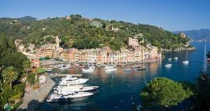 Panorama de Portofino imagen de archivo libre de regalías