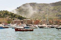 Panorama de Portofino Photographie stock libre de droits