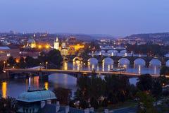 Panorama de Praga Fotos de Stock Royalty Free