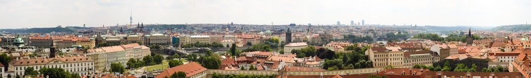Panorama 01 de Praga Fotografía de archivo libre de regalías