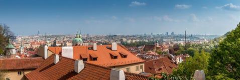 Panorama de Praga Imagen de archivo libre de regalías
