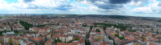Panorama de Praga Imagen de archivo