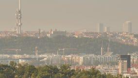 Panorama de Praga Capital checa almacen de metraje de vídeo