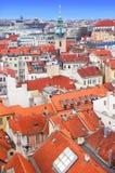Panorama de Praga de Rathaus Imágenes de archivo libres de regalías