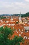 Panorama de Praga vieja Foto de archivo libre de regalías