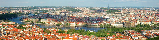 Panorama de Prague Photographie stock libre de droits