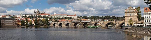 Panorama de Prague Photos stock