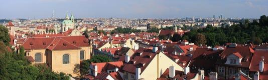 Panorama de Prague Images libres de droits