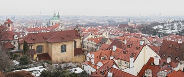 Panorama de Prague images libres de droits