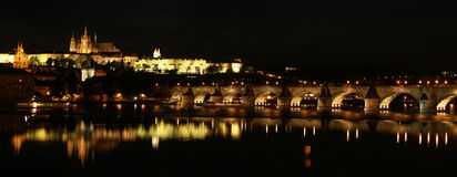 Panorama de Prague Photo stock