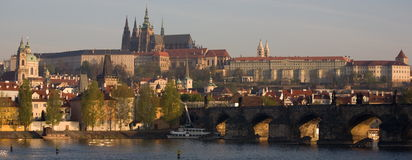 Panorama de Prague - dayview Photographie stock libre de droits