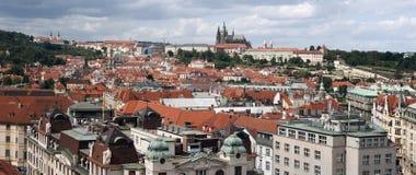 Panorama de Prague - de Hradcany Photos stock