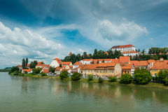 Panorama de Ptuj slovenia Foto de Stock Royalty Free