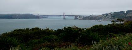 Panorama de puente Golden Gate Fotografía de archivo