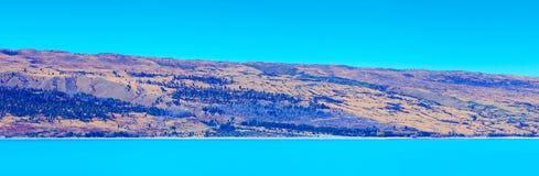 Panorama de Pukaki del lago, Nueva Zelanda Foto de archivo libre de regalías