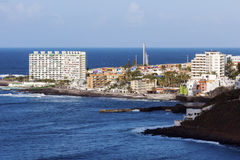 Panorama de Punta del Hidalgo Photographie stock libre de droits