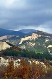 Panorama de pyramide de montagne de Sandy Photographie stock
