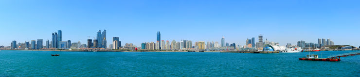 Panorama de Qingdao fotos de stock royalty free