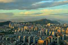 Panorama de Qingdao photo libre de droits