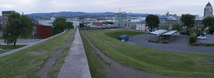 Panorama de Quebec City Photos stock