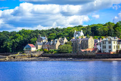 Panorama de Queensferry sul perto de Edimburgo, Escócia, Reino Unido Imagem de Stock Royalty Free